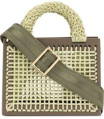 0711 pistachio st. barts mini purse - green