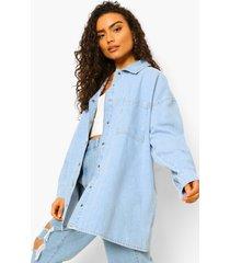 onbewerkte oversized spijkerblouse, light blue
