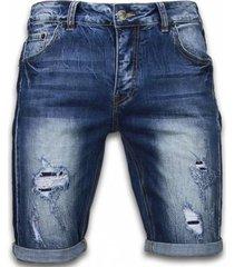 korte broek enos korte broeken - slim fit torn look shorts -