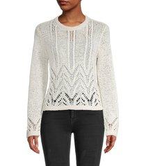 bcbgmaxazria women's mixed-stitch sweater - bare pink - size xl