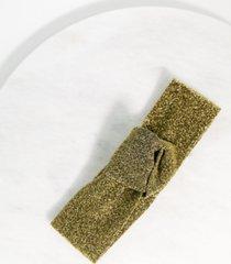 twelvenyc gold lurex stretch knot headband