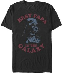 star wars men's classic darth vader best papa in the galaxy short sleeve t-shirt