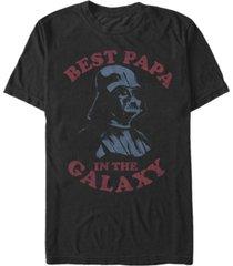 star wars men's classic darth vader best papa in the galaxy short sleeve t-shirt