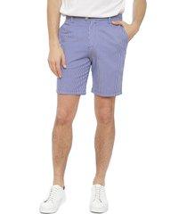 bermuda calvin klein flat front yard dye azul - calce regular