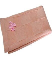 manta beb㊠tricot tric㔠maternidade recã‰m nascido cod 1039.1 rosa - multicolorido - dafiti