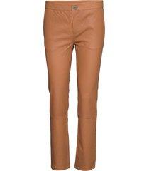 2nd leya leather leggings/byxor brun 2ndday