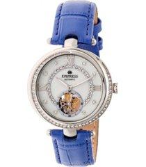 empress stella automatic purple leather watch 39mm