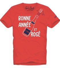 bonne année et rosé red t-shirt