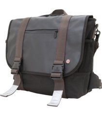 token lorimer matte vinyl medium messenger bag