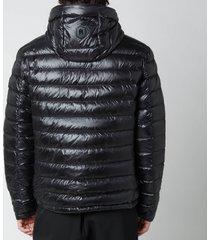 mackage men's mike satin lightweight down jacket - black - xl