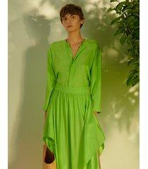 koszula jedwabna limone verde
