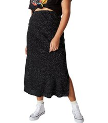 cotton on women's curve 90s slip skirt