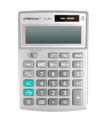 calculadora de mesa procalc pc260 12 dígitos solar cinza