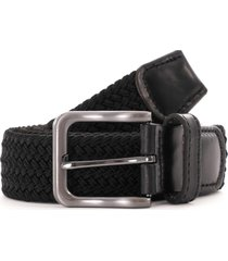 none of the above woven leather end belt - black 845300-blk