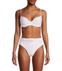 polka dot-print underwire bikini top