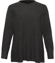 knitted blouse plus long sleeves round neck stickad tröja grå zizzi