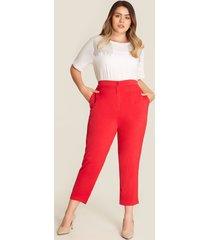 pantalón rojo recto rojo 14