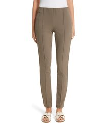 lafayette 148 new york gramercy acclaimed stretch pants, size 2 in nougat at nordstrom