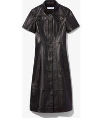 proenza schouler white label leather shirt dress 00200 black 6