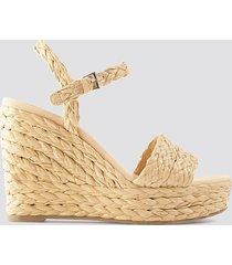 mango rafi sandals - beige