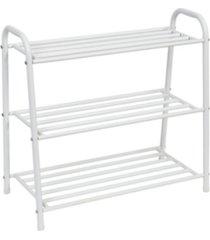 honey can do 3-tier white matte metal shoe rack