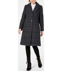 kenneth cole plaid reefer coat