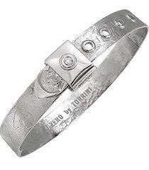 torrini designer bracelets, zero - 18k white gold and diamond bangle bracelet