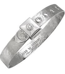 torrini designer bracelets, zero - 18k white gold and diamond bangle bracelet