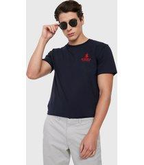 camiseta azul navy-rojo royal county of berkshire polo club