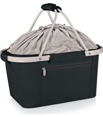 oniva by picnic time metro black basket collapsible cooler tote