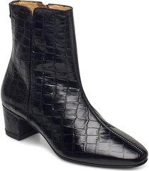 ellar mid zip boot shoes boots ankle boots ankle boot - heel svart gant