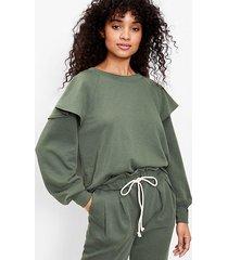 loft lou & grey ruffle terry sweatshirt