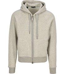 tom ford cotton hooded zip sweatshirt