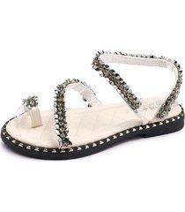 zapatos de playa brillantes para mujeres sandalias con diamantes