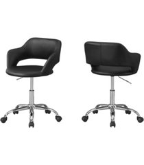 monarch specialties office chair - metal hydraulic lift base
