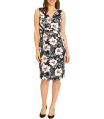 women's angel maternity sleeveless floral print maternity dress, size x-small - green