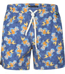 eddy monetti mermaid print drawstring shorts