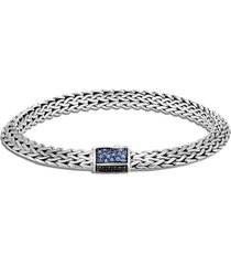 'classic chain tiga' sapphire spinel sterling silver bracelet