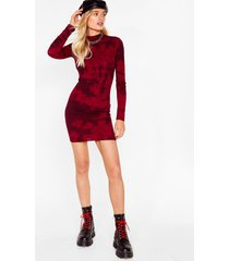 feeling groovy tie dye mini dress - burgundy