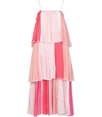 lemlem eshal tiered maxi dress - pink