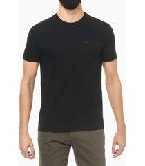 camiseta slim lisa bolso - preto - pp