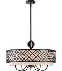 livex arabesque 5-light pendant