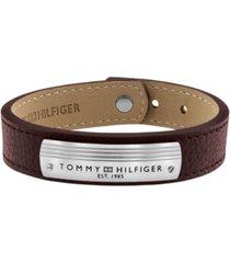 tommy hilfiger men's genuine leather bracelet