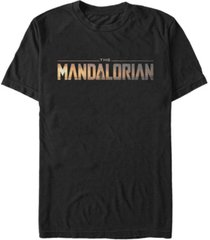 fifth sun star wars the mandalorian title fill logo short sleeve men's t-shirt
