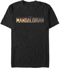fifth sun star wars the mandalorian title fill logo short sleeve men's t-shirt