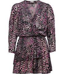 rogers burnout velvet dress kort klänning svart zadig & voltaire