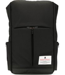 makavelic triangle logo patch backpack - black