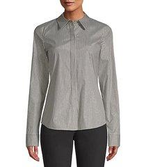 phaedra button-front blouse