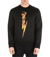 neil barrett flame thunderbolt sweatshirt