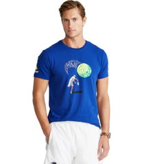 polo ralph lauren men's us open custom slim fit graphic t-shirt